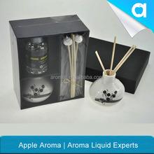ceramic bottle reed diffuser set/ fragrance oil in ceramic vase/ rattan sticks home air freshener items