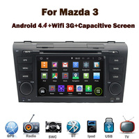 """7""""HD Digital Touch Screen Mazda 3 Android car dvd GPS with Wifi 3G GPS Bluetooth Radio RDS USB IPOD Steering wheel Canbus"""