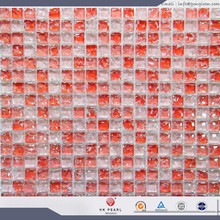cracked glass mosaic tiles crackle glass mosaic tile red crystal mosaic
