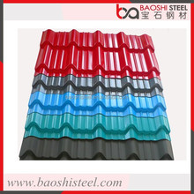 Baoshi Steel lightweight pvc coated corrugated galvanized zinc roof sheets in good price