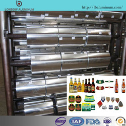competitive price of aluminum foil, jumbo coils for beer bottle covering beverage label hot sale in Europe market