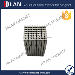 High Performance Cylinder Permanent Neodymium Magnet N35 Nickel Coating Magnetic Rod Neodinium Magnet D6 x 25mm