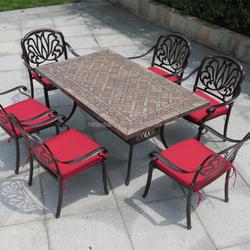 Outdoor Garden Patio Metal Marble Stone Provence Furniture