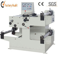Label slitting and rewinding machine/barcode sticker slitting machine