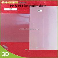 Factory Custom PP& PET 3D lenticular lens sheets 0.4, 0.5,0.6mm