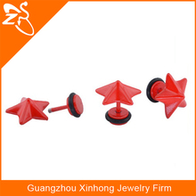 stainless steel colorful body jewelry,women accessories,red baking ear stud piercing