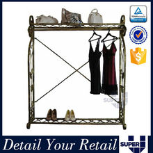 Clothes retail shop display stand pillar furniture for dress hanging rail