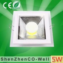 High Quality CE RoHS LED Glass Down Light 5W 10W 15W led Glass Panel