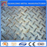 SS400 A36 Q235 ST37-2 tear drop checkered steel plate