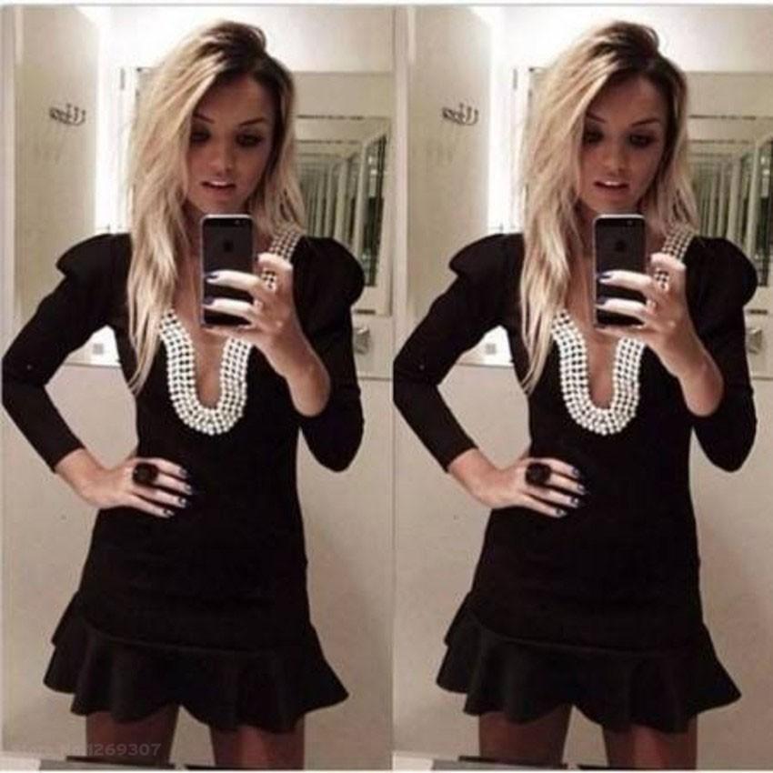 2015 длинный рукав черный Мини лето пляж Кружева Повседневные платья спинки выпускные платья fiesta de vestidos партии платье платья