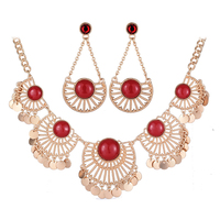 Fashion 18K Gold Plated Ruby Jewelry Sets N1-57412-5240