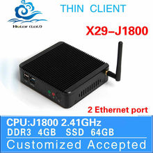 celeron J1800 industrial computer thin client with vga mini computer X-29 dual lan 4g ram 64 ssd support Window 7 Ultimate