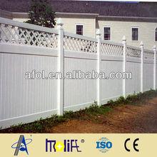 Zhejiang AFOL plastic security privacy fences pvc garden temporary fencing