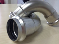 Stainless steel pipe fitting 90 degree elbow for inox press fit