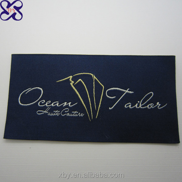 High class product label Ultrasonic-cut custom clothing label for clothing