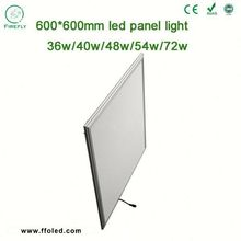 Aluminum Body warm white 600 600 led recessed panel light for classroom