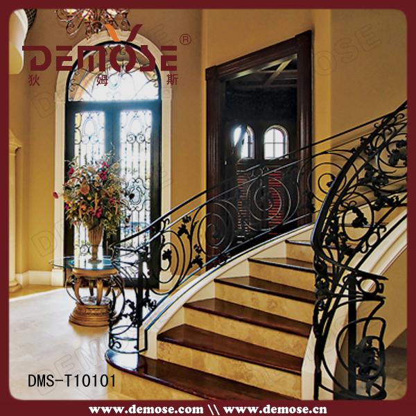 Diseño de lujo demose hierro forjado barandas para indoor escalera ...