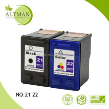 High Quality Wholesale Original Printer Compatible Ink Cartridge for hp 21 22