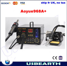 Ship from UK,No TAX !! Aoyue 968A+ 3-in-1 SMD soldering station, Upgraded from Aoyue968, Aoyue968A+ solder station