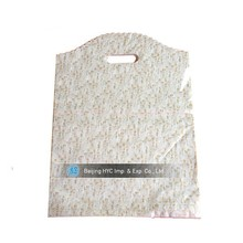 White die cut packing plastic bag for clothes