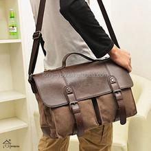 Cotton Canvas Cross Body Laptop Messenger Bag Men's Tote Bag