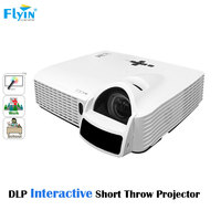 FLYIN 120 Iinches School Eductation use High Resolution 3600lm Short Throw DLP Interactive Projector