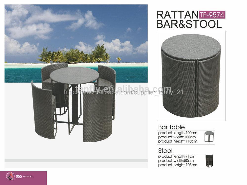 Tf 9574 nouveau design espace conomiepuce patio rotin for Table exterieur osier