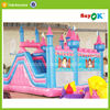 sale cheap inflatable air princess bounce castle bunk bed with slide