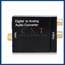 Digital to analog optical toslink coaxial to RCA audio converter digital to analog audio decoder