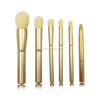 metal texture handle brand name make up brush set wholesale