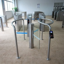 Butterfly Rotating Gate / round column / glass wing / CE certification