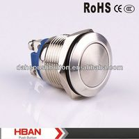 CE ROHS illuminated momentary metal push button switch