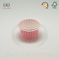 coated paper baking cupcake liners cups jag edge polka dots printed