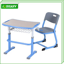 High quality wood combo school desk and chair
