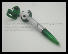 Ball-point pen with football on the head