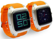 hand-on Android phone Android wear smart phone smartwatch Sizable Screen Android4.2 Dual Core WIFI GPS 3G Smart watch Phone