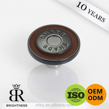 Embossed round novelty shank button for denim A2-80004