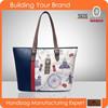 JL103- Fashion city pinting handbag women bag fashion handbag 2015