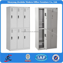 china best selling good quality knock down stock cabinet 6 compartment cheap office employee metal steel file locker