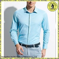 Sky Blue Hot Sell Men's Dress Shirt And Pants, Fitted Dress Shirts In Bulk