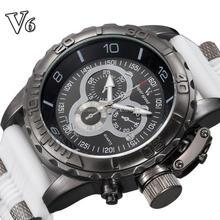 Fashion sports style Business man quartz Wrist watch water proof luxury silicon watch