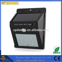 Surface Sticked or Wall Mounted Outdoor Motion Sensor Light LED Solar Garden Lamp with low price