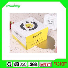 Rectangle folding recycled corrugated paper & food paper box printing
