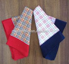 Custom printed cotton pocket handkerchief export handkerchief children
