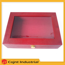 chinese cheap good quality royal pvc leather box packing for tea set