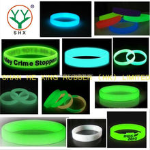 glow in dark promotional round most popular silicone bracelets