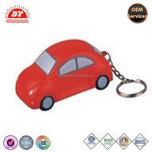 oem PU car stress toy keychain for gift promotion