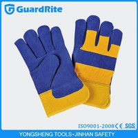 GuardRite Exquisite Blue Buffalo Leather Gloves for Work S-5011