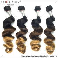 High quality honey hair brazilian hair 100% unprocessed honey brown brazilian hair free shipping to US