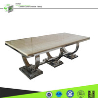 A8026 Antique 12 seater marble top dining table design